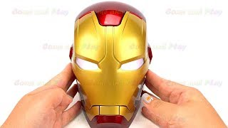 Disney Iron Man Head Surprise Toys Kinder Surprise Learn Colors Play Doh Balls Fun Kids