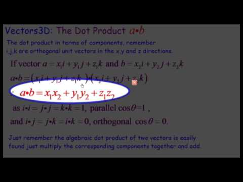 Vectors: Dot Product
