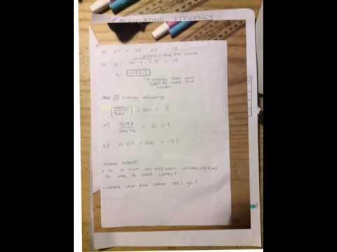 Calculating Energy Efficiency