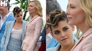 Kristen Stewart and Cate Blanchett at Cannes for the press conference of the Jury 2018