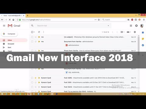 How To Enable Or Disable The New Gmail Design | Gmail New Design 2018