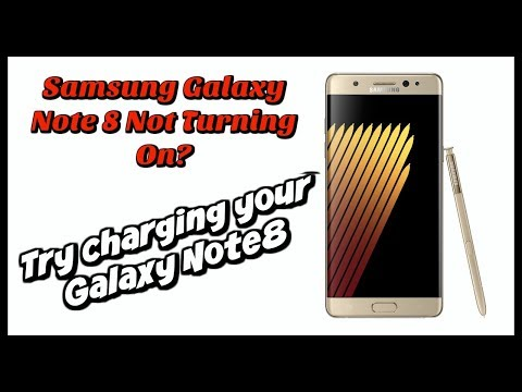 Samsung Galaxy Note 8 Not Turning On   Try charging your Galaxy Note 8