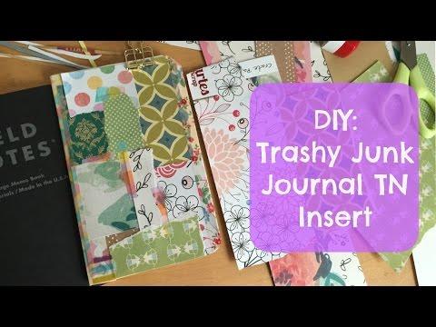 DIY Trashy Junk Journal Insert for Traveler's Notebook