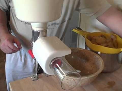 making applesauce with b2b food strainer