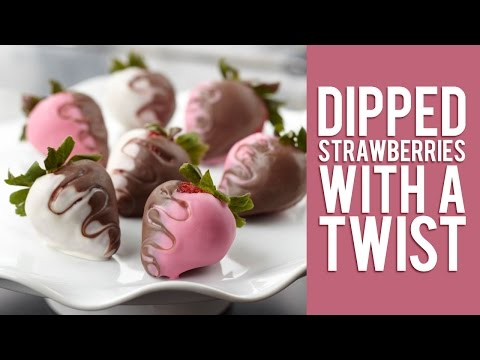 Dipped Strawberries with a Twist