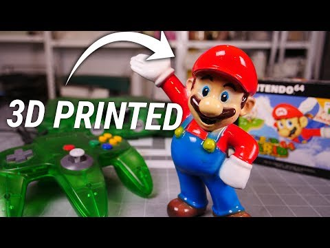 3D PRINTING Super Mario - How SMOOTH can we get him?
