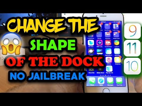 HOW TO CHANGE THE SHAPE OF THE DOCK ON IOS 10/10.3/11 NO JAILBREAK/PC