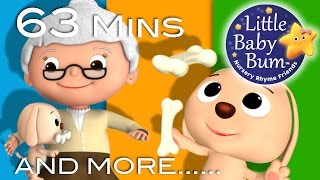 Old Mother Hubbard | Plus Lots More Nursery Rhymes | 63 Minutes Compilation from LittleBabyBum!