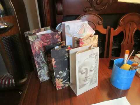 How To Make a Gift Bag From Wallpaper Samples