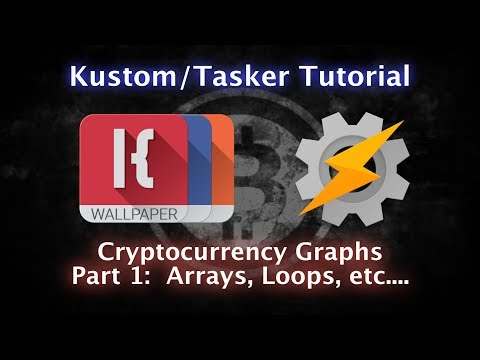 KLWP, KWGT, KLCK, Tasker Tutorial - Arrays and Loops and Cryptocurrency - PART ONE