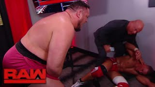 Samoa Joe ambushes Jason Jordan in Kurt Angle