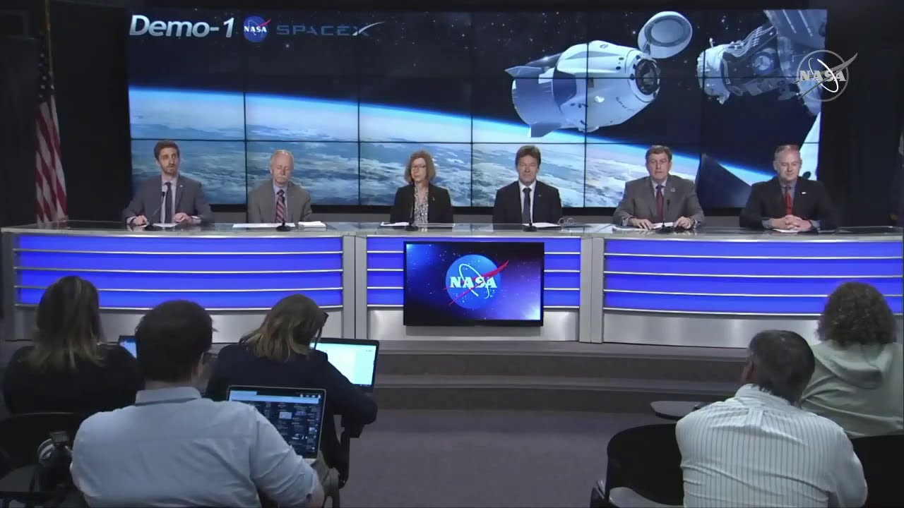 "NASA TV: SpaceX Demo-1 Post ""Flight Readiness Review"" Press Conference"