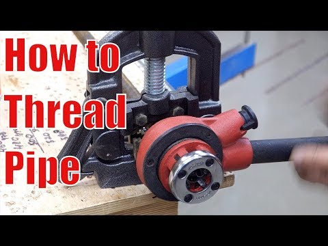 Pipe clamps: How to thread pipe