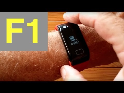 F1 Blood Pressure Reading Smart Bracelet: Unboxing and Review