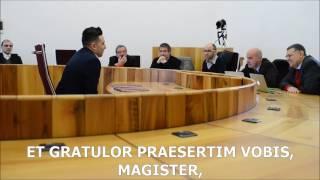 SERMO LATINUS - Discussione di laurea (graduation) in lingua Latina