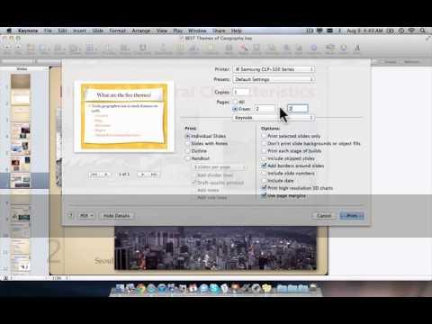 How to save Keynote slide as PDF