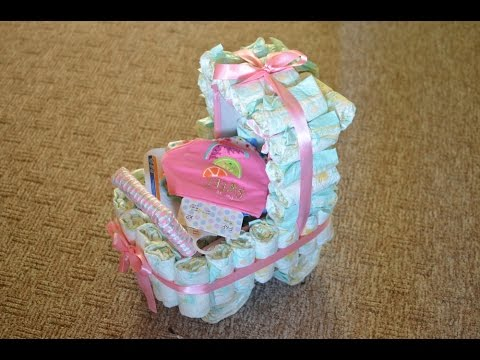 Handmade diaper stroller
