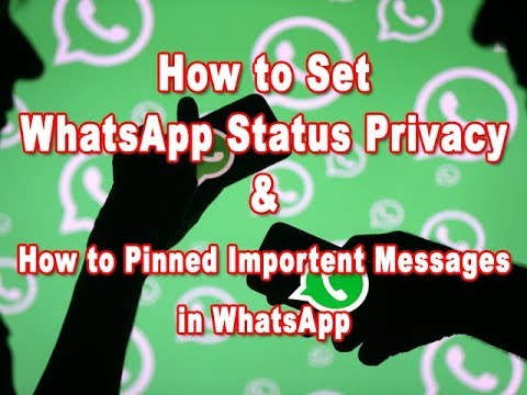 How to Hide whatsapp status to someone and Chat Pinned