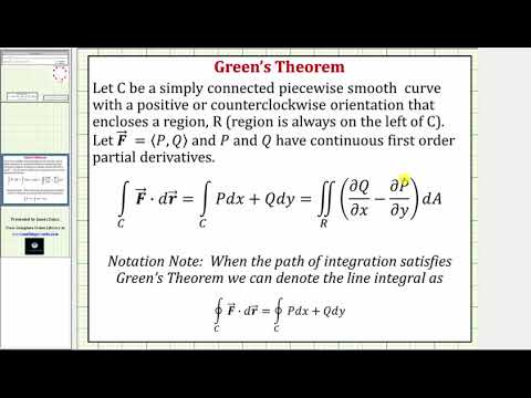 Evaluate a Line Integral of F*dr Around a Circle with Green's Theorem