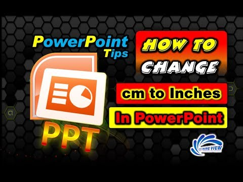 How to Change Units cm to Inches in MS PowerPoint | By It's Mine View