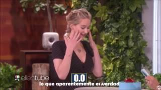 Ellen Show Subtitulado -- Jennifer Lawrence y Chris Pratt juegan con Ellen