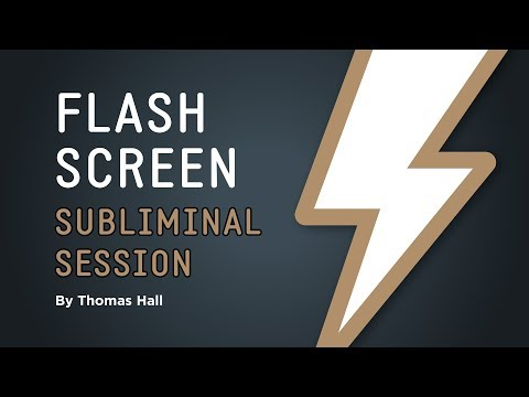 Say No to Anxiety & Depression - Flash Screen Subliminal Session - By Thomas Hall
