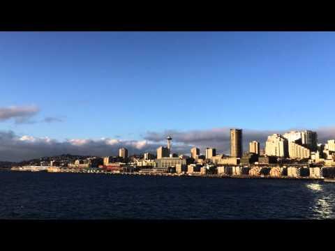 On the ferry between Seattle and Bainbridge Island
