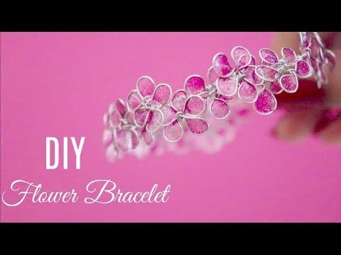 DIY Flower Bracelet | Jewellery Making | Sakshi Kamat