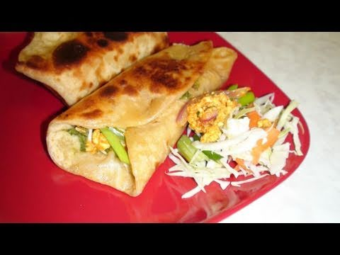 Kathi Rolls Video Recipe - Vegetable Frankie (Start to finish) - Perfect Potluck
