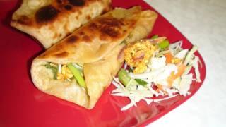 Kathi Rolls Video Recipe - Vegetable Frankie or Bombay Burrito (Start to finish) - Perfect Potluck