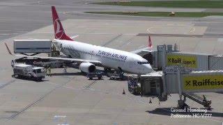 Turkish Airlines Boeing 737-800 Nevsehir Tc-jgd Timelapse Ground Handling & Take Off @vie
