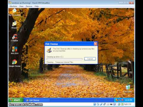 Virtual box windows xp disc defragmenter and disc clean up