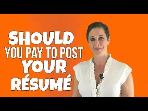 SHOULD YOU PAY TO POST YOUR RÉSUMÉ?? | Debra Wheatman