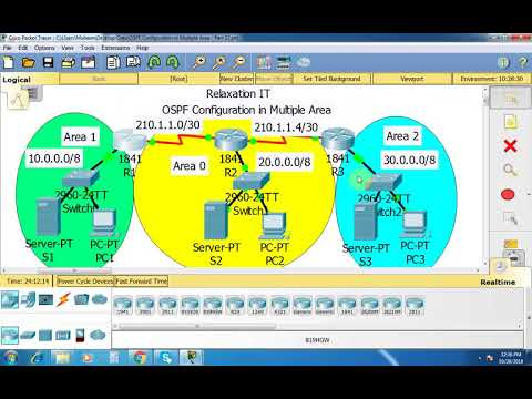 OSPF Configuration in Multiple Area - Part 33   CCNA 200-125 (Routing & Switching)