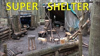 Bushcraft Shelter | Woods Camp Update
