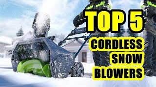 TOP 5: Best Cordless Snow Blower 2020 on Amazon | Baterry and Charger