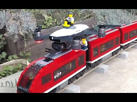 Lego crooks flying DJI Spark drone