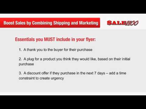 Boost sales by combining shipping and marketing / Salehoo / Ebay Amazon