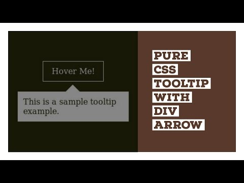 Pure CSS Tooltip with Div Arrow