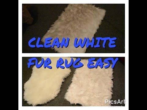 CLEAN WHITE FAUX FUR RUG EASY!