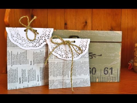 How to Make Upcycled Newspaper Goodie Bags