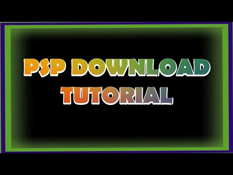 PSP/PSN Game Download Tutorial