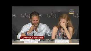 Tom Hardy at the press conference for Lawless in Cannes