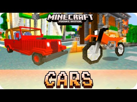 Minecraft PE Addons - DRIVE CARS and DIRT BIKES! iOS & Android MCPE 1.0.1 / 1.0 Addon Download