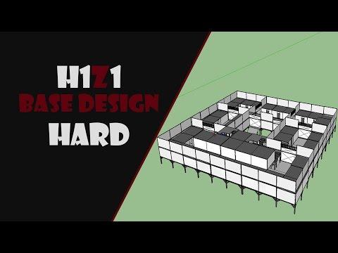 SECURE Base Design !!HARD!! [H1Z1] (Sketchup)