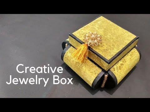 Original and creative Ideas(cardboard organizer) How to Make Jewelry Box, Easy DIY jewelry box