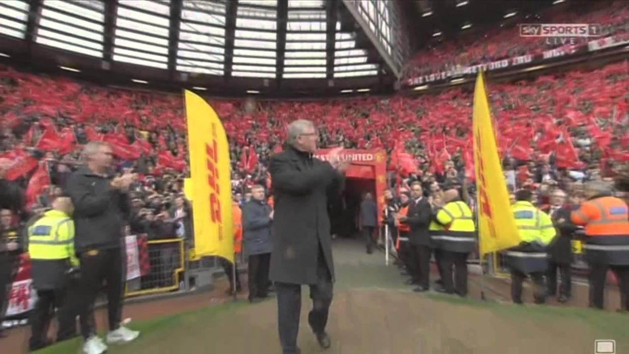 Alex ferguson Reception At Old Trafford! ( Manu Vs Swansea )