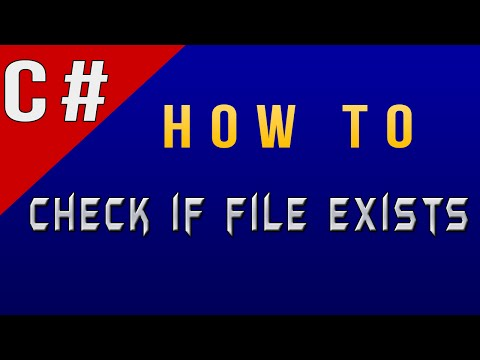 How To Check if File Exists in C#/CSharp