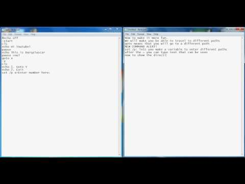 Beginners Batch File Commands