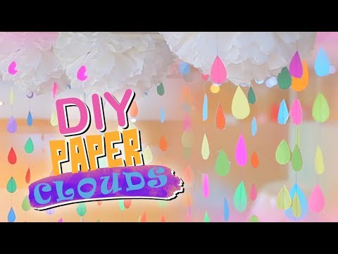 DIY Crepe Paper clouds for PARTY Decoration / innovative craft show using easy & cheap material